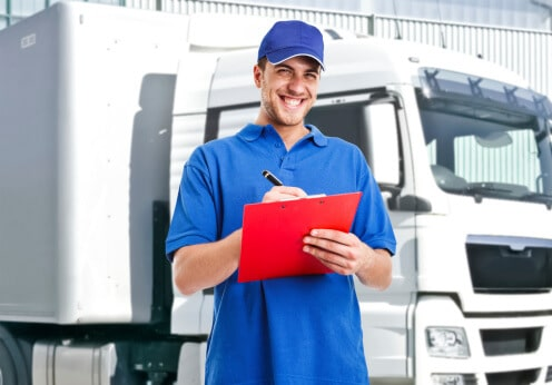 commercial truck driving