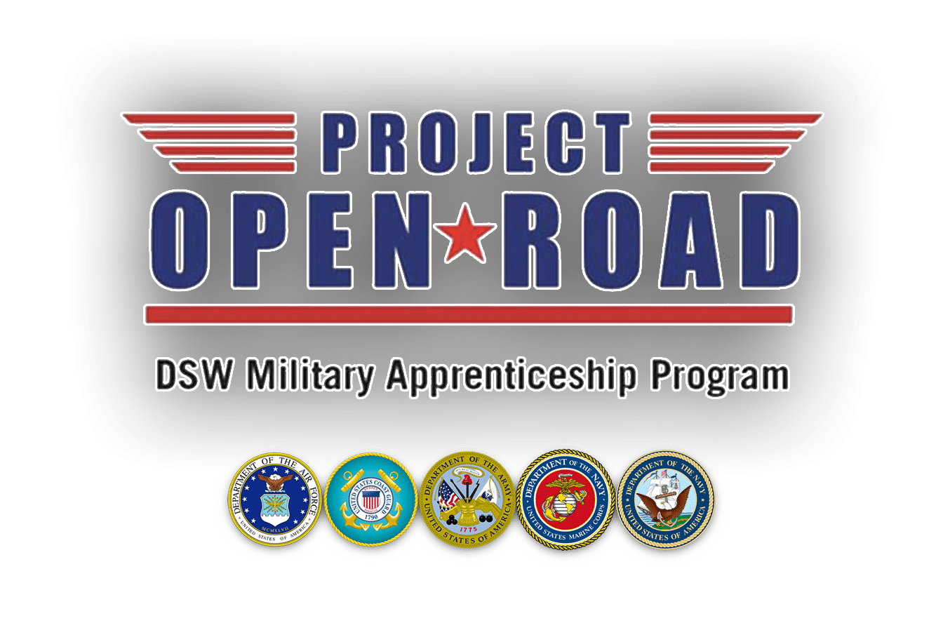 Logo for Project Open Road, a veteran apprenticeship program for truck driving